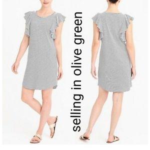 NWT J Crew Factory flutter sleeveless tshirt dress